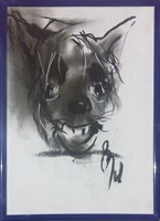 Obraz do salonu artysty Bożena Wahl pod tytułem Portret psa - z cyklu portrety zwierząt 036
