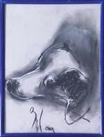 Obraz do salonu artysty Bożena Wahl pod tytułem Portret psa - z cyklu portrety zwierząt 037