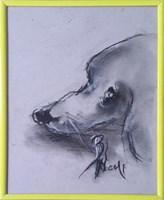Obraz do salonu artysty Bożena Wahl pod tytułem Portret psa - z cyklu portrety zwierząt 040