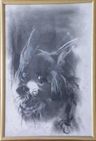 Obraz do salonu artysty Bożena Wahl pod tytułem Portret psa - z cyklu portrety zwierząt 042