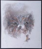 Obraz do salonu artysty Bożena Wahl pod tytułem Portret kotka - z cyklu portrety zwierząt 045