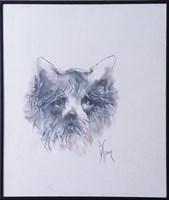 Obraz do salonu artysty Bożena Wahl pod tytułem Portret psa - z cyklu portrety zwierząt 049