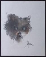 Obraz do salonu artysty Bożena Wahl pod tytułem Portret psa - z cyklu portrety zwierząt 050