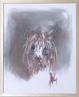 Obraz do salonu artysty Bożena Wahl pod tytułem Portret psa - z cyklu portrety zwierząt 051