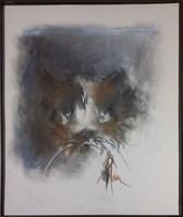 Obraz do salonu artysty Bożena Wahl pod tytułem Portret psa - z cyklu portrety zwierząt 052