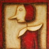 Obraz do salonu artysty Wojciech Odsterczyl pod tytułem Czerwony kapturek