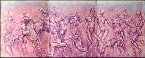 Obraz do salonu artysty Wojciech Pelc pod tytułem Bachanalia