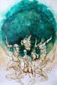 Obraz do salonu artysty Wojciech Pelc pod tytułem Atlas