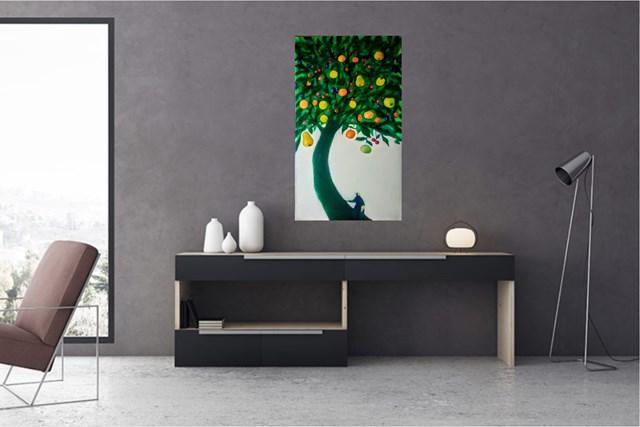 Moje drzewo wieloowocowe - wizualizacja pracy autora Miro Biały
