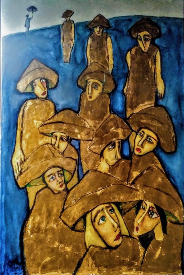 Obraz do salonu artysty Miro Biały pod tytułem Złote chłopaki