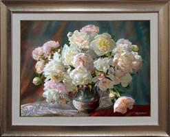 Obraz do salonu artysty Zbigniew Kopania pod tytułem Samotna peonia