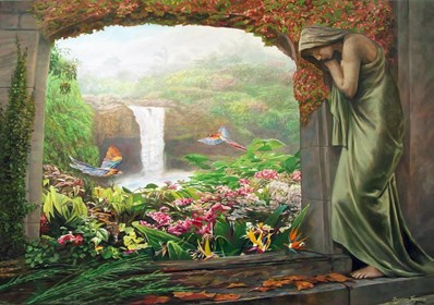 Obraz do salonu artysty Zbigniew Kopania pod tytułem Rajski ogród