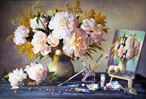 Obraz do salonu artysty Zbigniew Kopania pod tytułem Martwa natura - bukiet kwiatów