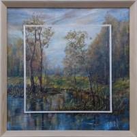 Obraz do salonu artysty Bożena Olak pod tytułem Pejzaż letni II