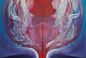 Obraz do salonu artysty Anita Zofia Siuda pod tytułem Przestrzeń osobista, dyptyk