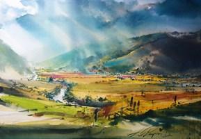 Obraz do salonu artysty Adam Papke pod tytułem Sometimes sun, sometimes rain