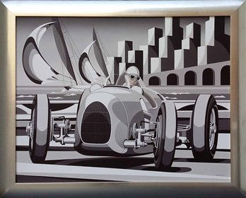 Obraz do salonu artysty Tomasz Kostecki pod tytułem Grand Prix Monako