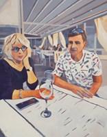 Obraz do salonu artysty Andrzej Tuźnik pod tytułem Pofilozofujmy nad jeziorem Como