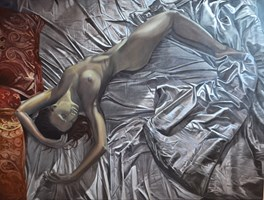 Obraz do salonu artysty Mateusz Dolatowski pod tytułem Flowing