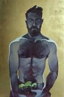 Obraz do salonu artysty Jakub Godziszewski pod tytułem Mężczyzna z koszem cytryn