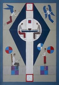 Obraz do salonu artysty Mikołaj Malesza pod tytułem Spotkanie