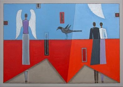 Obraz do salonu artysty Mikołaj Malesza pod tytułem Granica