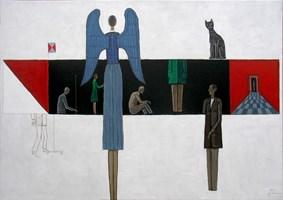 Obraz do salonu artysty Mikołaj Malesza pod tytułem Cisza
