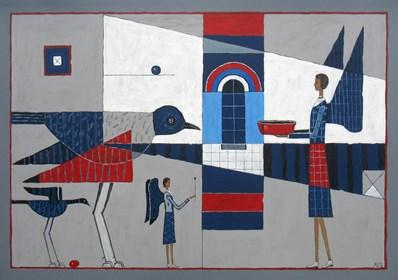 Obraz do salonu artysty Mikołaj Malesza pod tytułem Rytuał