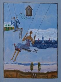 Obraz do salonu artysty Mikołaj Malesza pod tytułem Bez tytułu 8