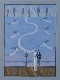 Obraz do salonu artysty Mikołaj Malesza pod tytułem Bez tytułu 9