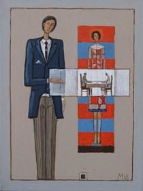Obraz do salonu artysty Mikołaj Malesza pod tytułem Bez tytułu 11