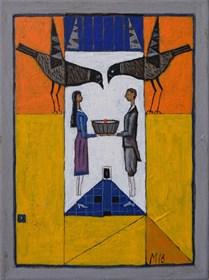 Obraz do salonu artysty Mikołaj Malesza pod tytułem Bez tytułu 14