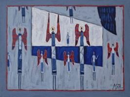 Obraz do salonu artysty Mikołaj Malesza pod tytułem Bez tytułu 17