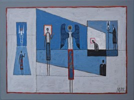 Living room painting by Mikołaj Malesza titled Untitled 18
