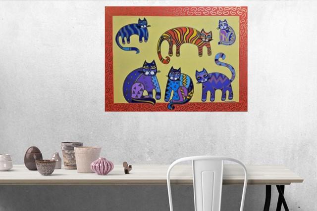 Family of Cats - visualisation by Lili Fijałkowska