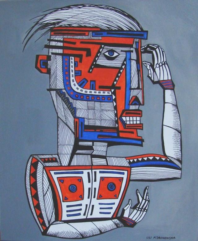 Obraz do salonu artysty Lili Fijałkowska pod tytułem CYBORG