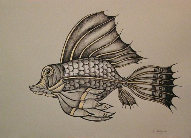 Obraz do salonu artysty Lili Fijałkowska pod tytułem Ryby 3
