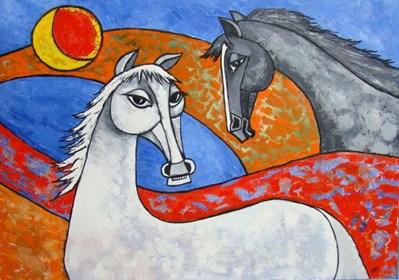 Obraz do salonu artysty Lili Fijałkowska pod tytułem Konie 2