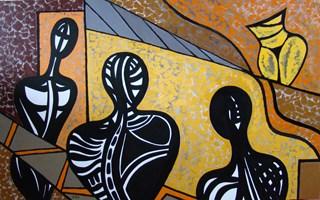 Obraz do salonu artysty Lili Fijałkowska pod tytułem Misterium 1