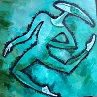 Obraz do salonu artysty Lili Fijałkowska pod tytułem Zielony Arlekin