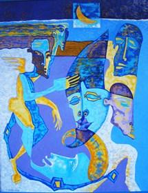 Obraz do salonu artysty Lili Fijałkowska pod tytułem Greckie wspomnienia