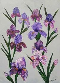 Obraz do salonu artysty Lili Fijałkowska pod tytułem Irysy