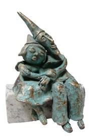 Rzeźba do salonu artysty Lili Fijałkowska pod tytułem Zakochani