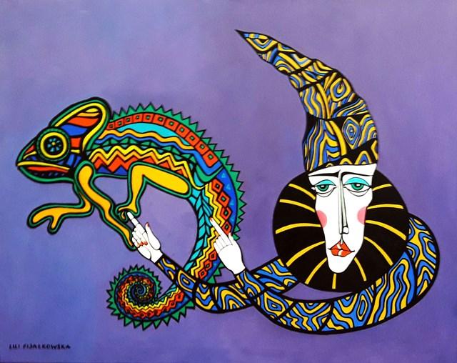 Obraz do salonu artysty Lili Fijałkowska pod tytułem Kameleon