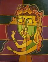Obraz do salonu artysty Lili Fijałkowska pod tytułem Sen Buddy