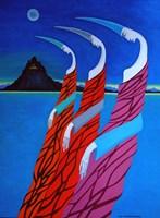 Obraz do salonu artysty Lili Fijałkowska pod tytułem Strażnicy wielkiej tajemnicy