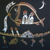 Obraz do salonu artysty Lili Fijałkowska pod tytułem Wieczór szabasowy