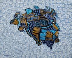 Obraz do salonu artysty Lili Fijałkowska pod tytułem Wodnik