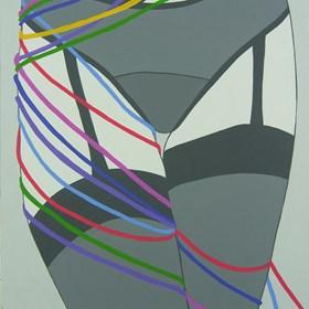Obraz do salonu artysty Viola Tycz pod tytułem Rozcięta 2 2 2