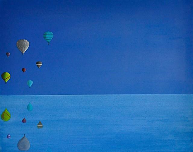 Obraz do salonu artysty Hugo Giza pod tytułem Parada Balonów